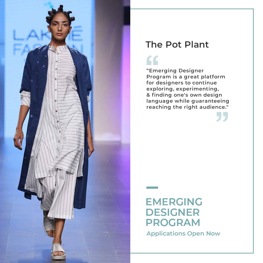 An androgynous label that has been breaking gender barriers with their inclusive creations that comprise of gender-fluid designs, @thepotplant made their debut at #LFW in 2017.   Apply for the #EmergingDesignerProgram here: https://t.co/lczh6PSJXA   #LakmeFashionWeek #LFW2020 https://t.co/5w0UK4x9Ir