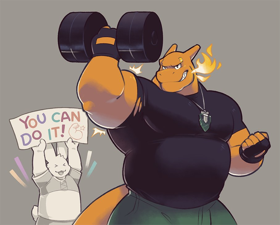So @Greenendorf decided to give me some workout motivation, and whaddaya know, its working! Look at those guns, folks! Beautiful stuff, right there~ 💛🔥💨