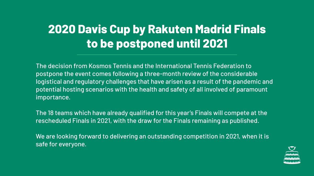 Read the full statement on  http://www. daviscupfinals.com      #DavisCupFinals #byRakuten <br>http://pic.twitter.com/bPz5B8KGq0