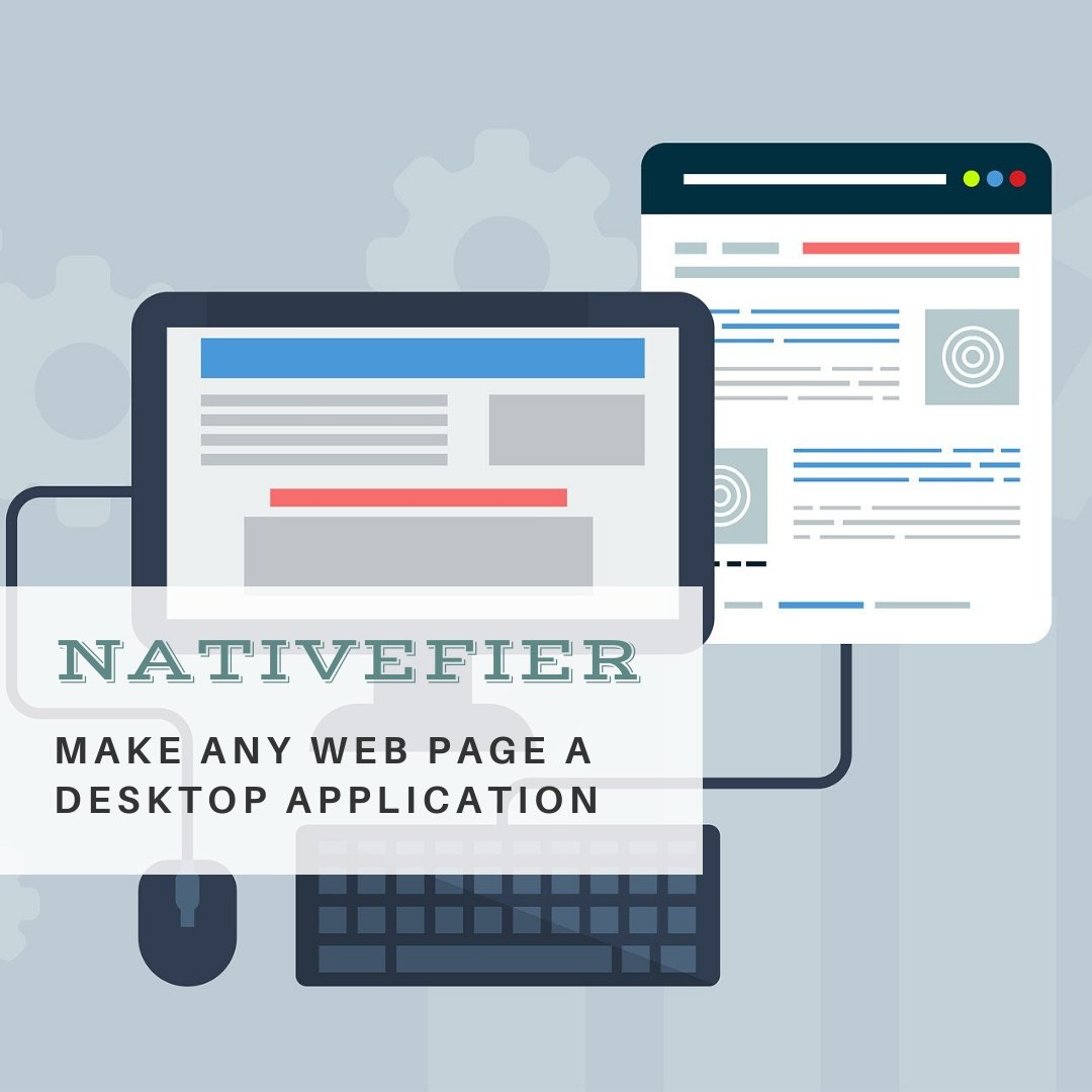 Nativefier: Make any web page a desktop application  https://t.co/z1cVoRWH3m  #Nativefier #nodejs #electron #desktopApplication #linux https://t.co/ZdmFFDXAZ4