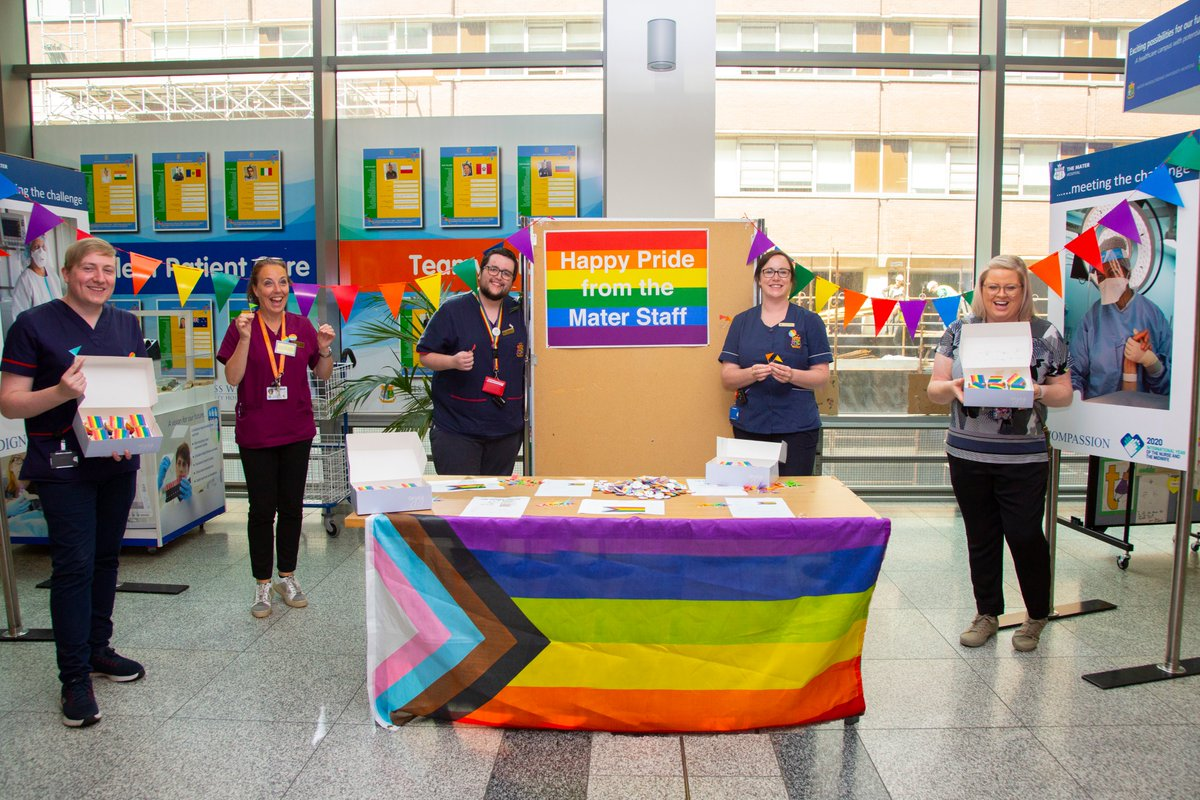 Happy Pride from all the staff in the Mater! Visibility is important at this time of year & we have also set up an LGBTQ+ interest group with the aim of improving healthcare for this community. #Pride #DublinPride #LGBTPride #LGBT #LGBTQ #LGBTQPride @MaterNursing @DublinPride