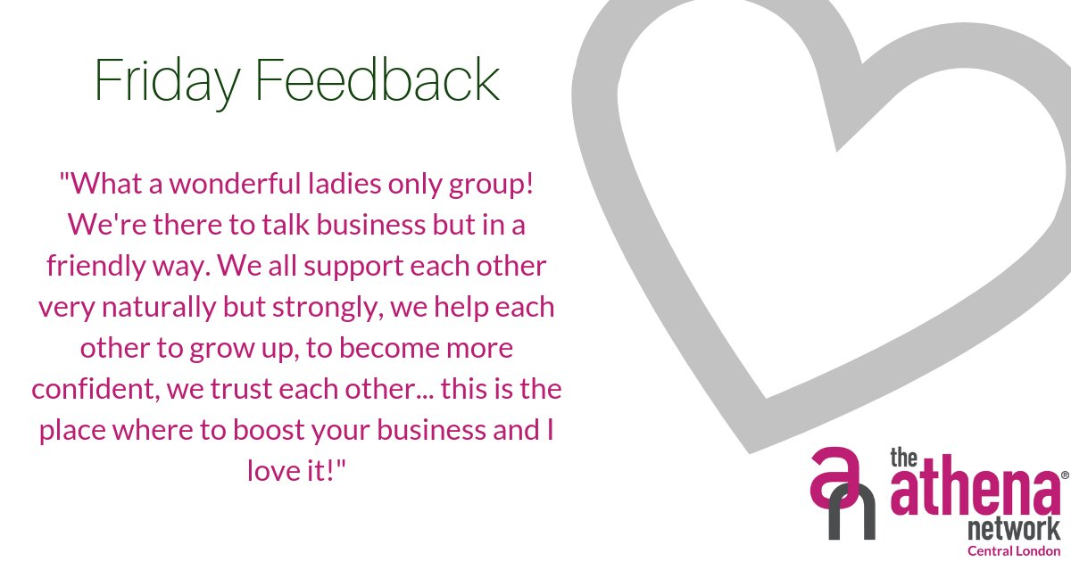 Do you want to talk about business in a friendly way with wonderful ladies?  Get in touch to join a group near you.  #FridayFeedback #Reviews #BoostYourBusiness #Support #Confident #ladiesonly #athenacentrallondon #magentatribe https://t.co/OEgmigcbfW