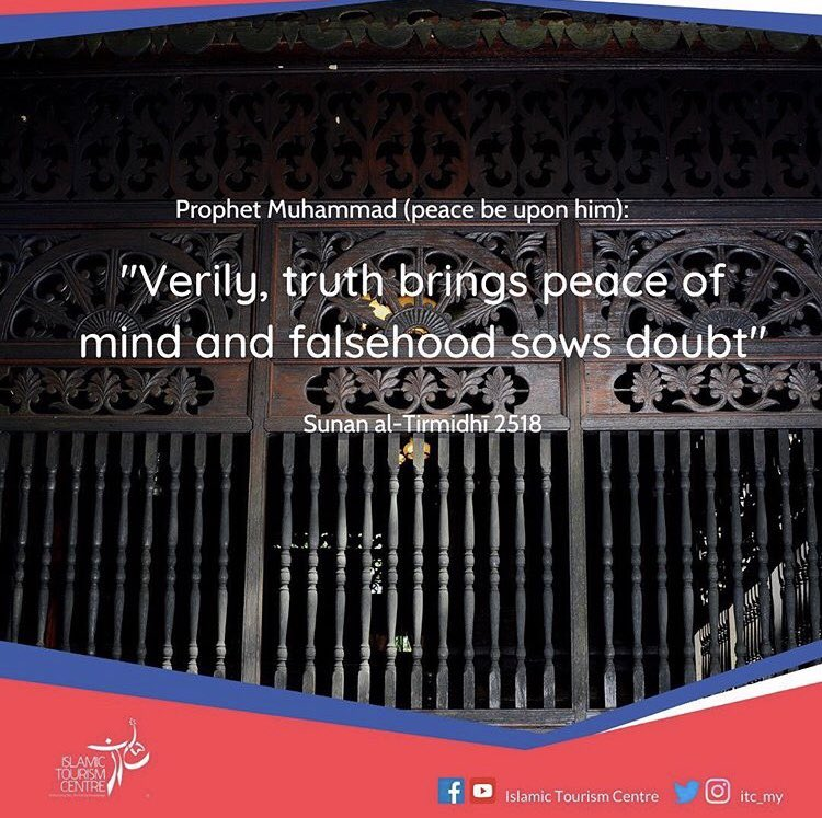 Moral conscience is part of al- Fitrah planted within the human soul. Believers will keep himself away from anxiety and uneasiness by refraining from telling lies and performing deeds that they know in their hearts are dubious and doubtful. https://t.co/wLlSfI2JJD