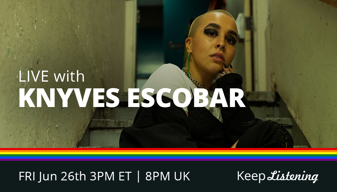 R&B artist and Washington DC native, @Knyves_Escobar writes and produces her own music as a way to reflect on painful situations, but has found inspiration in being able to resonate with people who can relate to her experiences 🎶 FRI at 3pm ET // 8pm UK: https://t.co/W4IvqcPm6H https://t.co/dILbHkjPyc