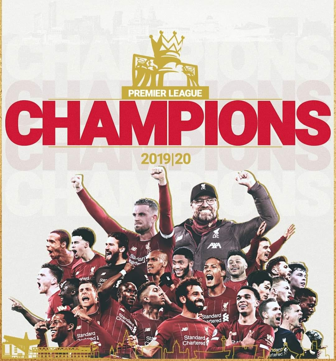 - Congratulations to all #LFC fans out there, you deserved this! #PremierLeagueChampions