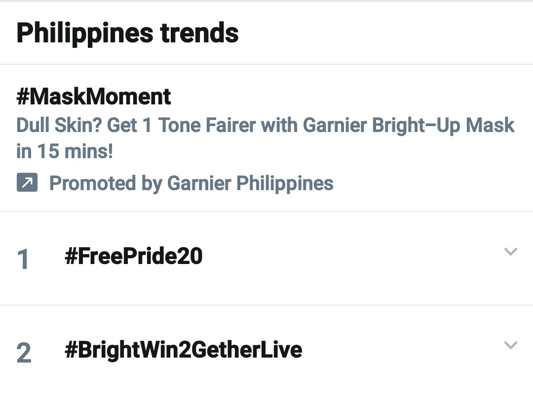 Philippines and Thailand Trends #BrightWin2GetherLive