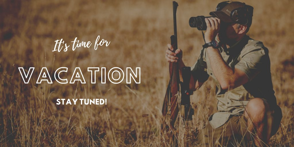 It's summer and time for vacation. The Deerhunter Twitter profile will be back in 3 weeks time so stay tuned and have a good summer holiday in the great outdoors ☀️🏕️🏞️🏖️😎  #Deerhunter #outdoorclothing #huntingclothing #outdoorlife #greatoutdoors https://t.co/t1aI2hAwV8
