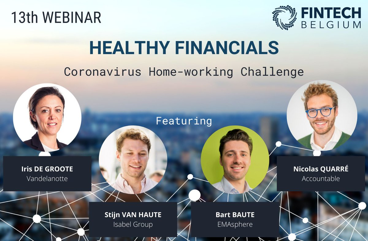 How to keep a healthy #cashflow? Join us today at 14:00 for our next webinar on Healthy #Financials!  Our speakers from Vandelanotte, @IsabelGroup, @EMAsphere and Accountable will be on stage to share their experiences and to answer all your questions.  https://t.co/KJ7GvNLgxC https://t.co/ZupY0g6Deu