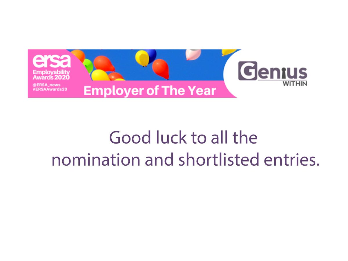 Today is the day we get to hear about the shortlist for the ERSA AWARDS 2020! We are proud to be supporting #EmployerOfTheYear and we will be looking at 4pm to see who made the difference ❤️👀👌 #GoodLuck everyone! https://t.co/LYqE6ZN9Bp