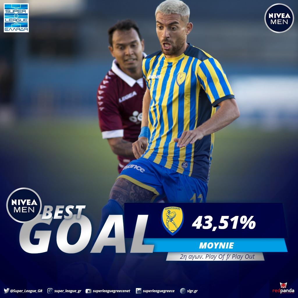 🏆 NIVEA MEN Best Goal της 2ης αγωνιστικής Play Off/Play Out ο Άντονι Μουνιέ  #slgr #NIVEAMEN #BESTGOAL #matchday2 #Playoff #Playout #Mounier #Panetolikos @FC_Panetolikos https://t.co/KaK0bPwsnI