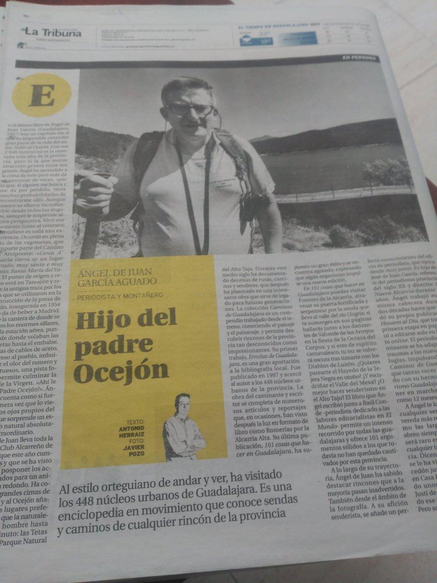 Qué interesante esto que escribe (y describe) @herraizayuso en #LaTribunaDeGuadalajara en su edición de hoy. #Periodismo, pero también, sobre todo, montaña, rutas y #Guadalajara, mucha Guadalajara https://t.co/UJVwq5Noje