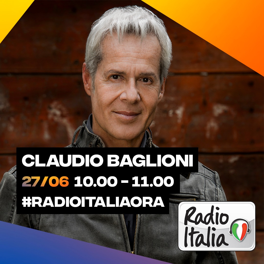 Claudio Baglioni racconta LA VITA È ADESSO a Radio Italia Ora - sabato 27 giugno alle ore 10. @RadioItalia  #LaVitaèAdesso #RadioItaliaOra https://t.co/ZDzN8FJMTV