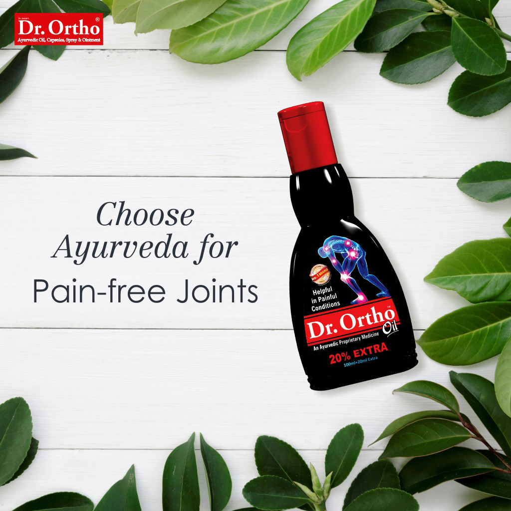 ➡️ Give the soothing care of Dr. Ortho Ayurvedic oil to your joints!  👉 Every day mild massage is effective in healing pain and inflammation of joints. #painrelief #drortho  ✅ Shop Now: https://t.co/ia9INM7wWO https://t.co/VujNoEu6Ff