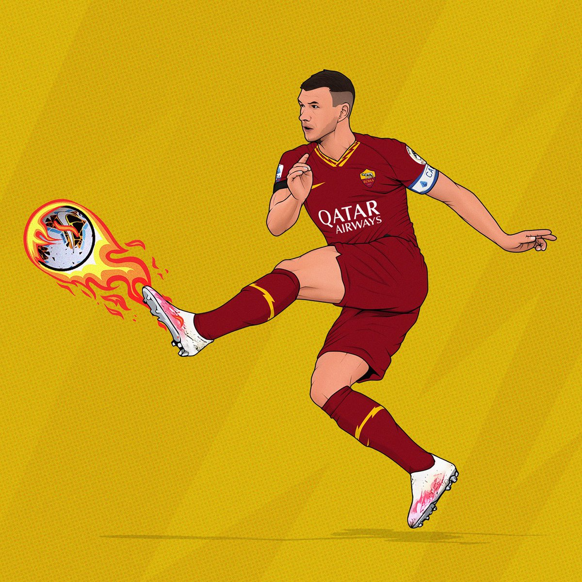 Perfect 🔥 Technique   #RomaArt🎨 by @vinnot86 https://t.co/wxYLGpHdAd