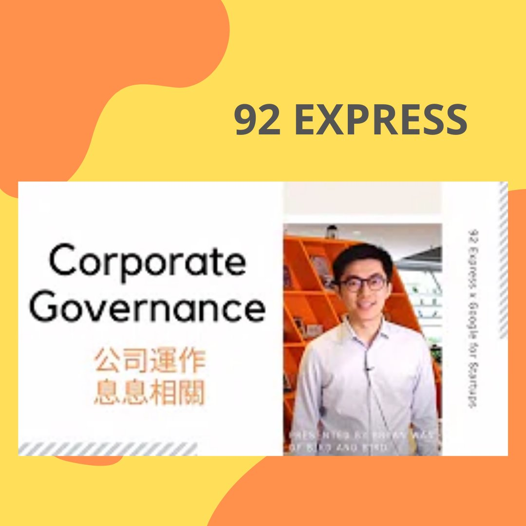 The quality of corporate governance can either make or break the entire company. Let's hear from Bryan Wan talking about the importance of superb governance. Join 92 express on Youtube to explore more!  #hardwareinnovation #startup #hkstartup #entre ... https://t.co/lR2yQKlx2X https://t.co/YlH7j4LOub