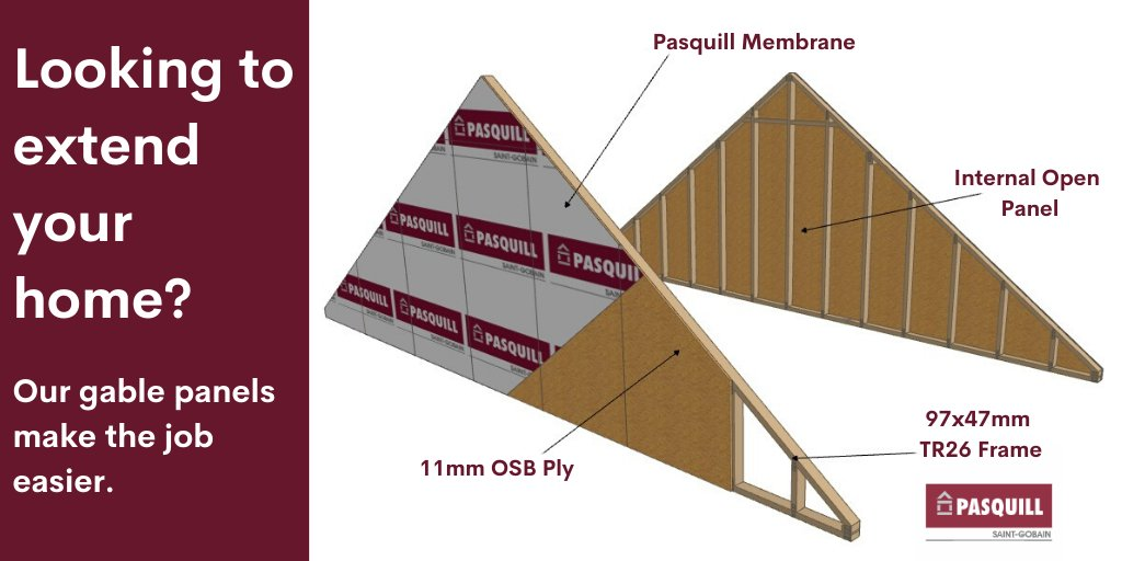 If you are looking to build an #extension onto your current #home, our gable panels can help make the job easier. Speak to our team today to find out more. #pasquill #getintouch https://t.co/bONMie8A0L https://t.co/wHmYwC9wuK