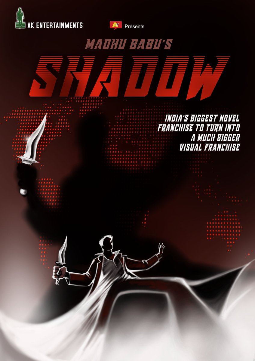 """""""You read about him in the 20th century. You will now see him with the same attitude in 21st century"""". Thanks MadhuBabu garu for trusting in us to give a visual format for the biggest novel franchise of India. #SHADOWSERIES https://t.co/hrtURBQEwa"""