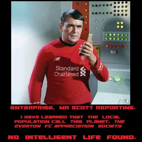 #Liverpoolchampions #liverpoolfc #Liverpool #LFCchampions #champions #LFC #lfcchampions2020 #StarTrek #RedShirtDay #MrScott  Laughing at #EvertonFC. https://t.co/BSBoiV1KuC