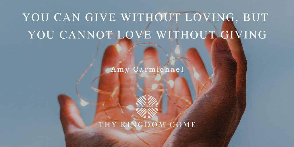 "Thy Kingdom Come on Twitter: """"You can give without loving, but ..."