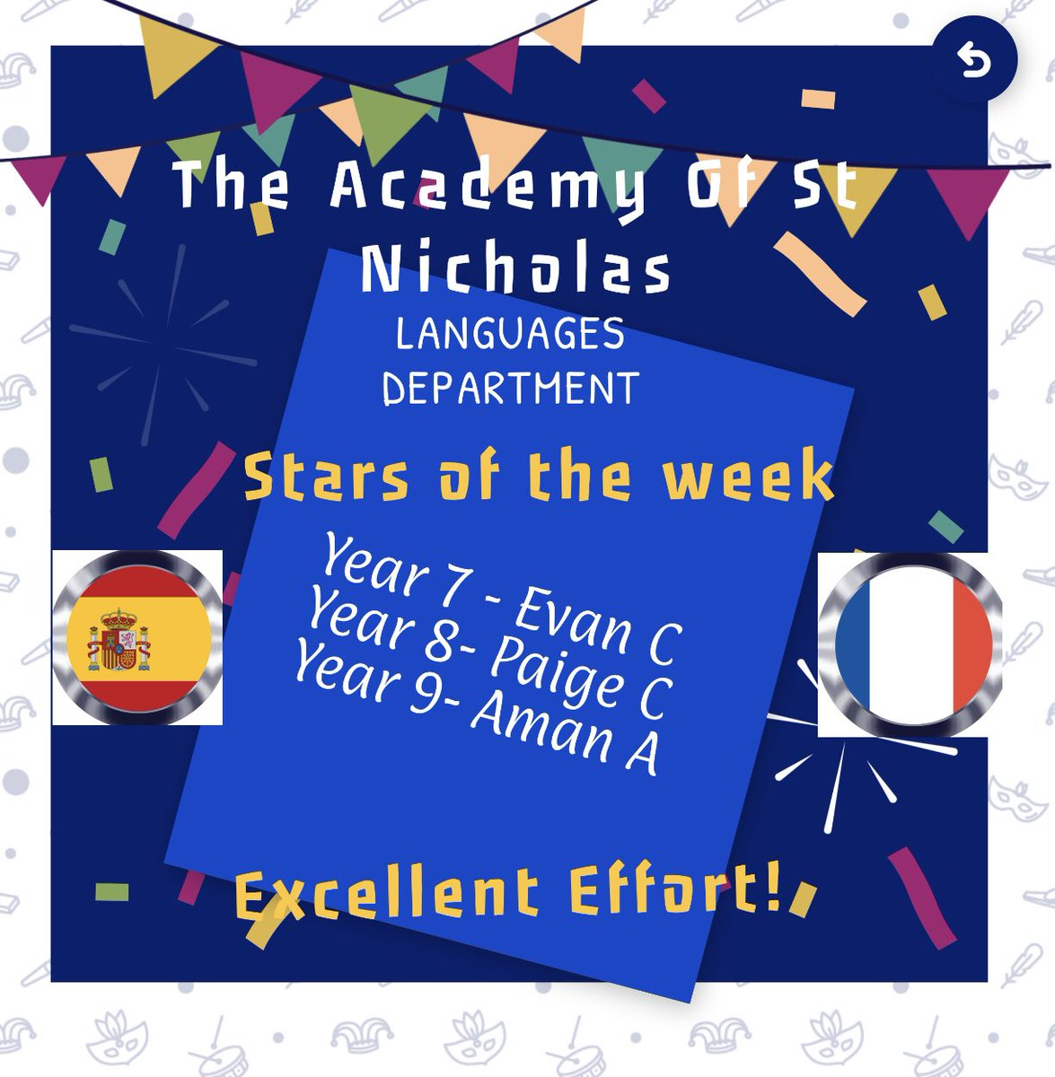 French and Spanish 'Stars of the week' this week ... 🇫🇷🇪🇸 🌟🌟🌟 👏🏻👏🏻👏🏻