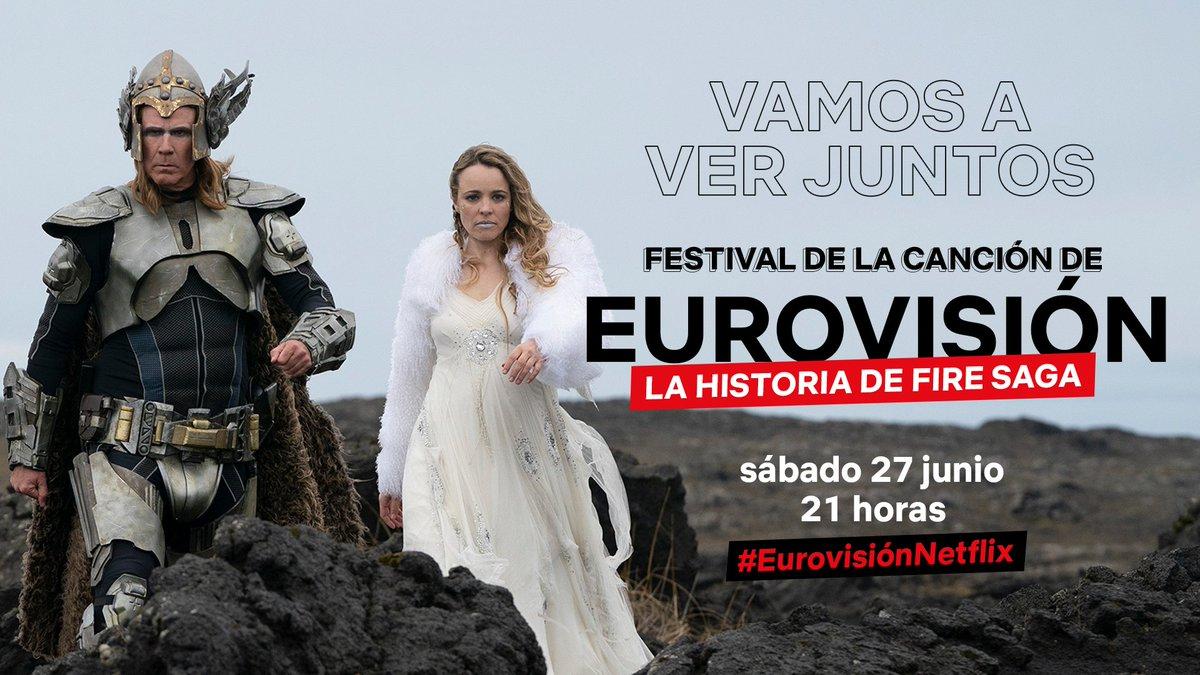 Tenemos TODO preparado para comentar mañana #EurovisiónNetflix: banderines de cada país, micros y la playlist eurovisiva. Eso sí, nada de gallos, pies descalzos ni espontáneos. https://t.co/89AdqcytiD