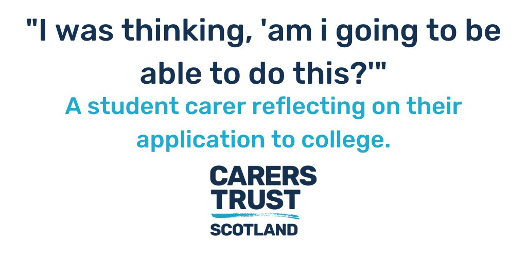 Studying and caring can have its challenges. If you are a student providing unpaid care to a friend or family member, contribute your experience, your voice to the @CarersTrustScot project. https://t.co/Co1F5r0EHn https://t.co/MxCJLnCzui