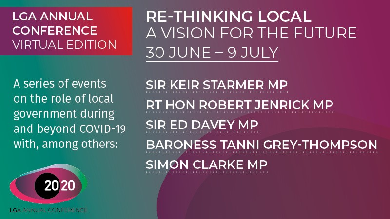 RT @LGAcomms Our virtual Annual Conference kicks off 30 June! Join us for the #LocalGov event of the year, with speakers such as:  🟣 @Keir_Starmer 🟣 @RobertJenrick 🟣 @EdwardJDavey 🟣 @Tanni_GT 🟣 @SimonClarkeMP  Programme & sign up at https://t.co/cpdkJmAgmn  #LGAConf20 | #ReThinkingLocal