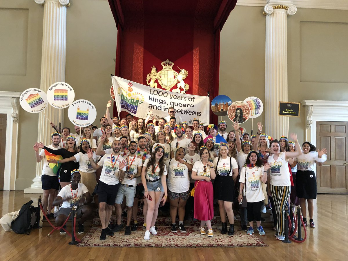 If 2020 had gone to plan, today we would have been marching alongside thousands of others at #PrideInLondon 🏳️🌈 Though we're sad we can't be together in person today, our work 'bringing history out of the closet' continues online: hrp.org.uk/palace-pride #Pride2020 #YouMeUsWe