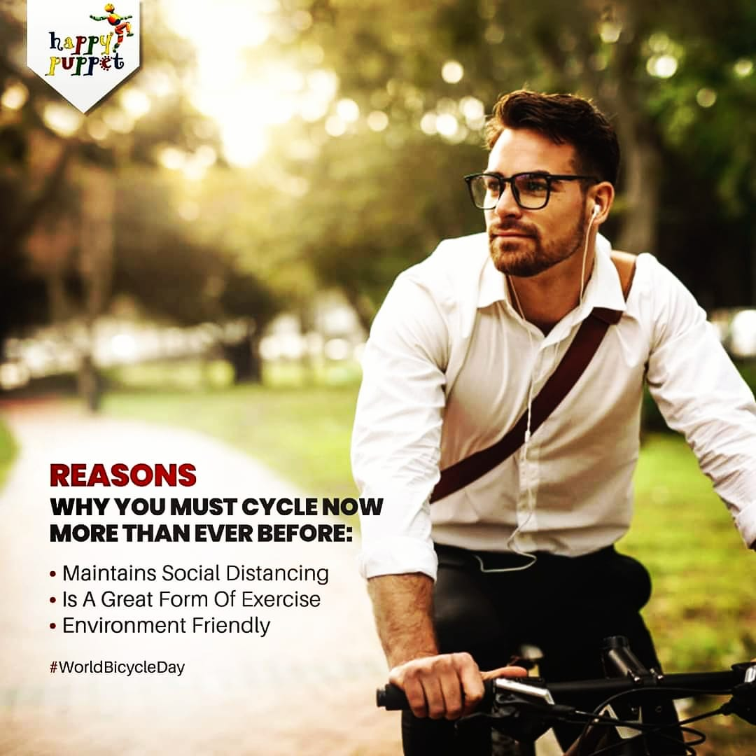 Cycling not only boosts your health but it safer for environment too. #worldbicycleday2020  #Cycling #Healthyliving #HealthForAll https://t.co/nbhAepNXdV
