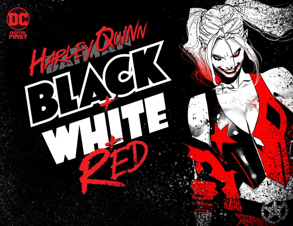 Grab your mallet and put on some makeup! HQ takes centerstage in #DCDigitalFirst HARLEY QUINN: BLACK + WHITE + RED ♦️ bit.ly/2YBW3Hk