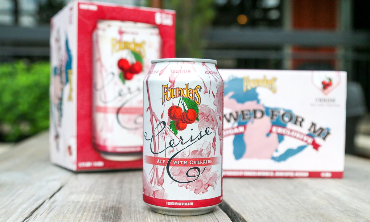 It's time – Cerise is now available at both of our taprooms!   Available in 6-pack cans exclusively in our home state. This beer will be distributed throughout Michigan and will start to show up on shelves anytime in the coming weeks. https://t.co/nYTXqXWOEz