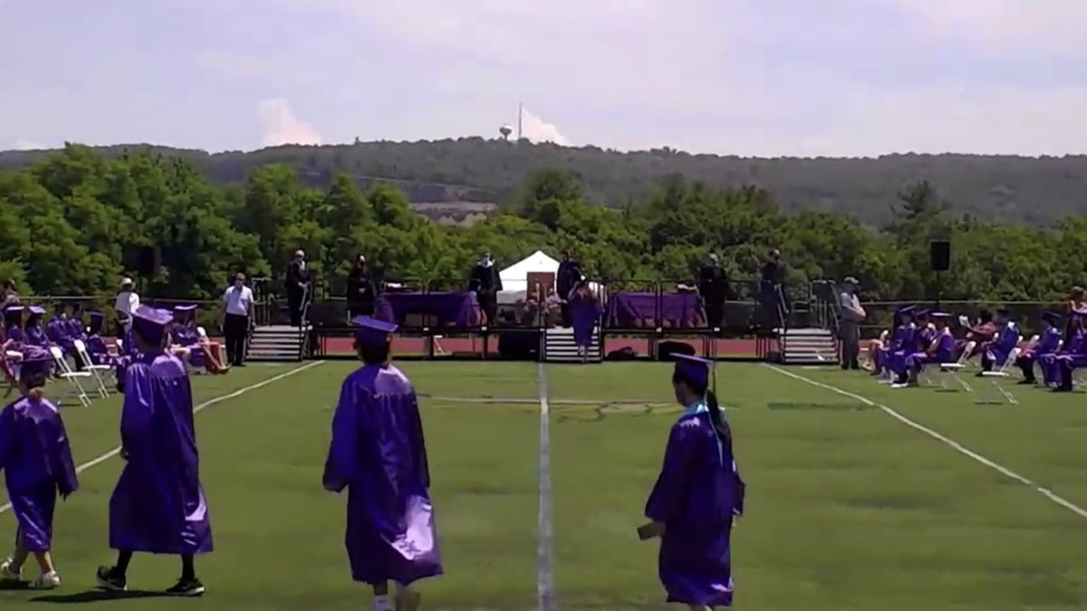 Spending the day at Clarkstown South for four graduation streams - two for Clarkstown North and two for Clarkstown South. Busy day of graduations on @locallivenet, including Iona Prep, Hamilton and many others https://t.co/eK43AJfeCN