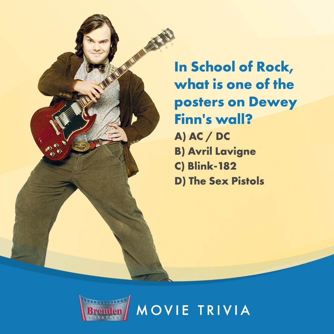 Can you recall which of these bands Jack Black's character has on his wall in #SchoolofRock? Comment with your answer! https://t.co/i0G0OU4MOm