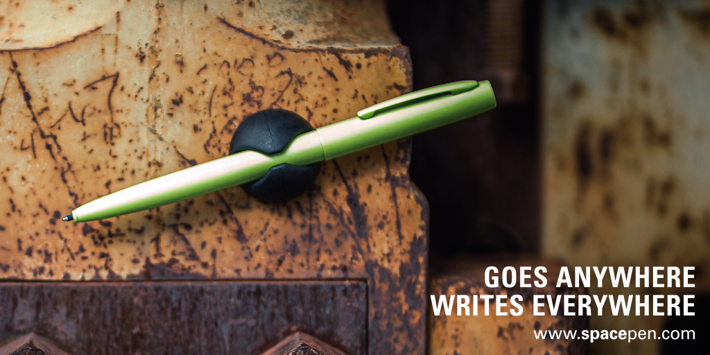 Our new Tradesman Space Pen is tough, durable and its bright yellow color makes it a standout in any busy environment.  #Tradesman #FisherSpacePen #Neon #GoesAnywhereWritesEverywhere  https://t.co/JY6FdcJ1FF https://t.co/Lh3wCWrwCB