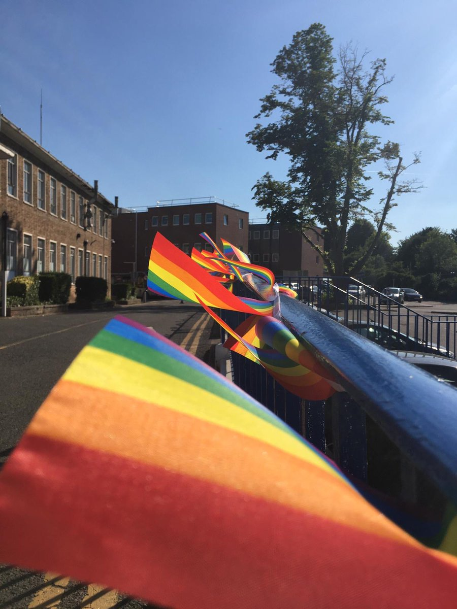 With less than an hour to go until @VirtualNHSPride, our bunting is fluttering in the wind and we are good to go! NHS colleagues across the country can join here at 6pm: teams.microsoft.com/l/meetup-join/… #pride #NHSPride