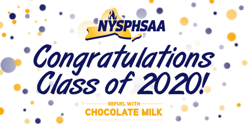 From all of us at #NYSPHSAA, we want to congratulate the Class of 2020!  You went though one of the toughest years ever and came out stronger on the other side.   We are so proud of your accomplishments, on and off the field, your future is so bright! #NYSPHSAARefuels https://t.co/Zy3GjuLKdL