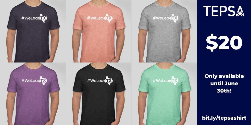 Only FOUR days left to grab a #WeLeadTX shirt! bit.ly/3fjlm6I #WeLeadTX #TXed