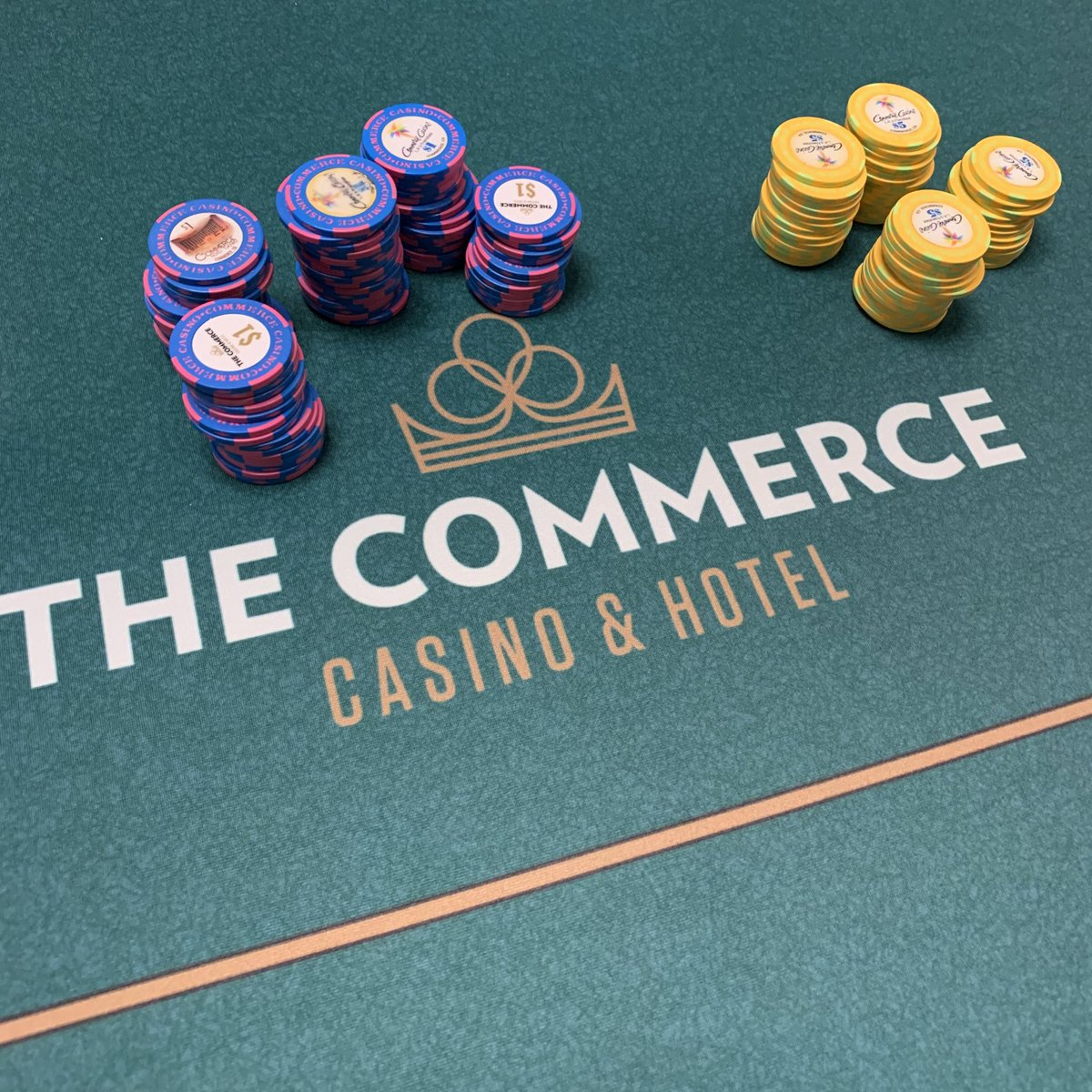 The game is ON at The Commerce. #commercecasino #wherethegamereigns