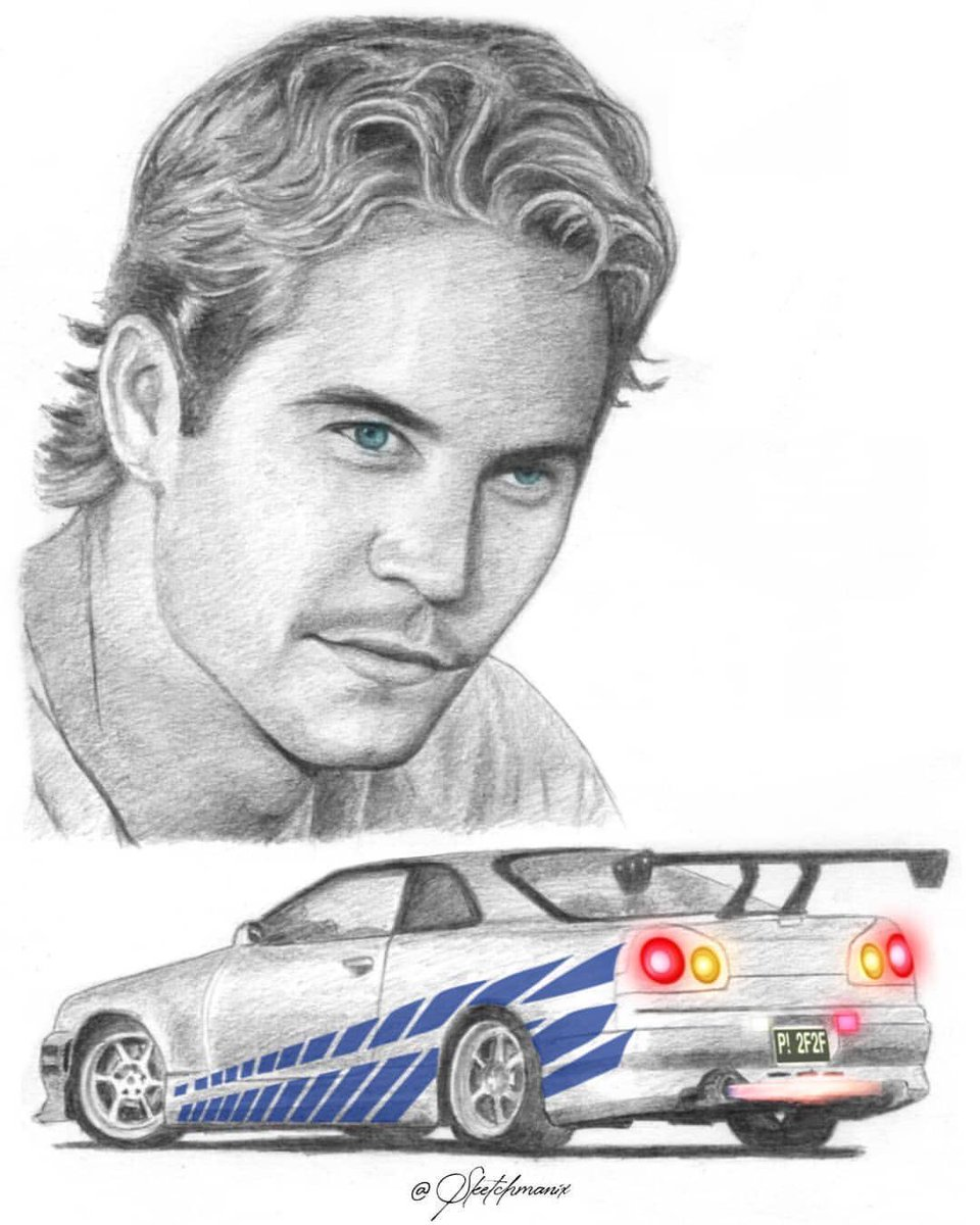 We're loving this #PaulWalkerArt by @Sketchmanix featuring the Nissan Skyline from #2Fast2Furious! ✏️ #FanArtFriday #TeamPW https://t.co/IWfnrSy0fR