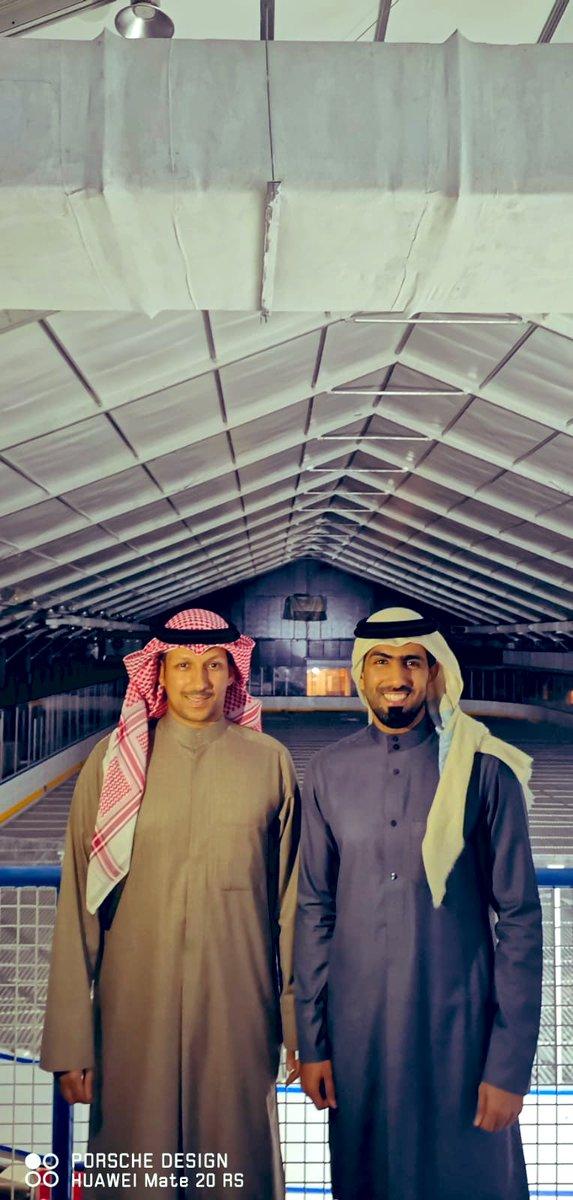 مع الاعلامي المميز والخلوق محمد سعدون الكواري اثناء زيارته لصالة نادي الالعاب الشتوية 2019/12  @Ms3don https://t.co/1FNSSTF1ob