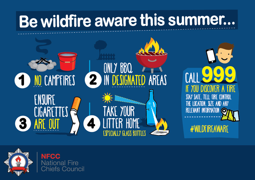 More advice from your friendly neighbourhood fire service. Be #WildfireAware! 👊