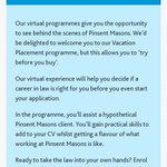 Image for the Tweet beginning: Our Virtual Work Experience programme
