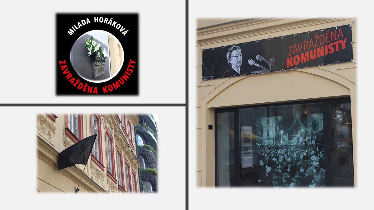 test Twitter Media - Česká advokacie @CAK_cz se k výzvě #Milada70 připojila vyvěšením černé vlajky a velkoplošné plachty s portrétem doktorky Horákové na budovu svého sídla v Kaňkově paláci na Národní třídě v Praze. #MiladaHorakova #Dekomunizace_cz #Milada70 #AdvokatiProtiTotalite #AdvokátníDeník https://t.co/1REXNBVUgS