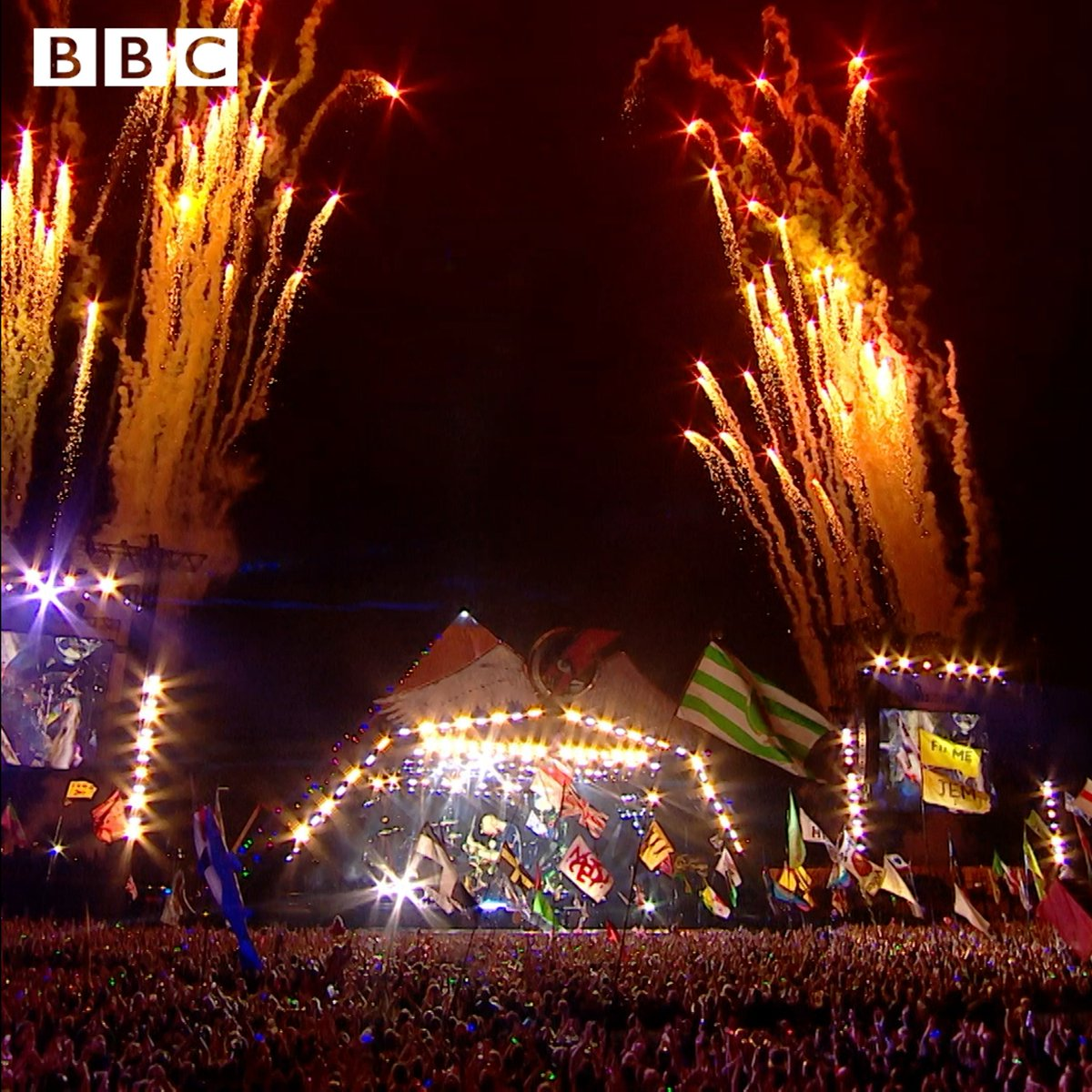 On what wouldve been @Glastonburys 50th weekend, @BBCGlasto is broadcasting sets from across the Festivals rich history, including the bands 2016 headline set. #GlastoAtHome UK: Watch on BBC2 at 11.05pm, Saturday (then iPlayer) Worldwide: Listen now at bit.ly/listen16set