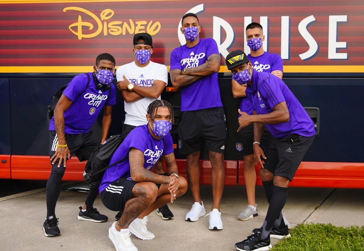 The Orlando crew has arrived!🦁💥🏰 #MLSisBack #OrlandoCity #CapitalofMLS #Disney #team https://t.co/6MTi7xyaBn
