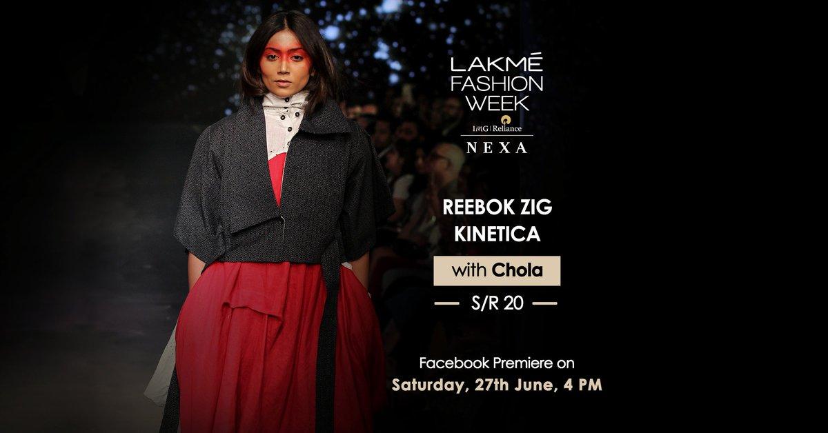 Catch the Facebook Premiere of Reebok ZIG KINETICA with @chola_is_me on 27th June at 4pm.  @reebokindia  #LakmeFashionWeek #LFW #SportTheUnexpected #ZigKinetica #ReebokAtLFW #5DaysOfFashion #LFWSR20 https://t.co/3Yhi17FMBV