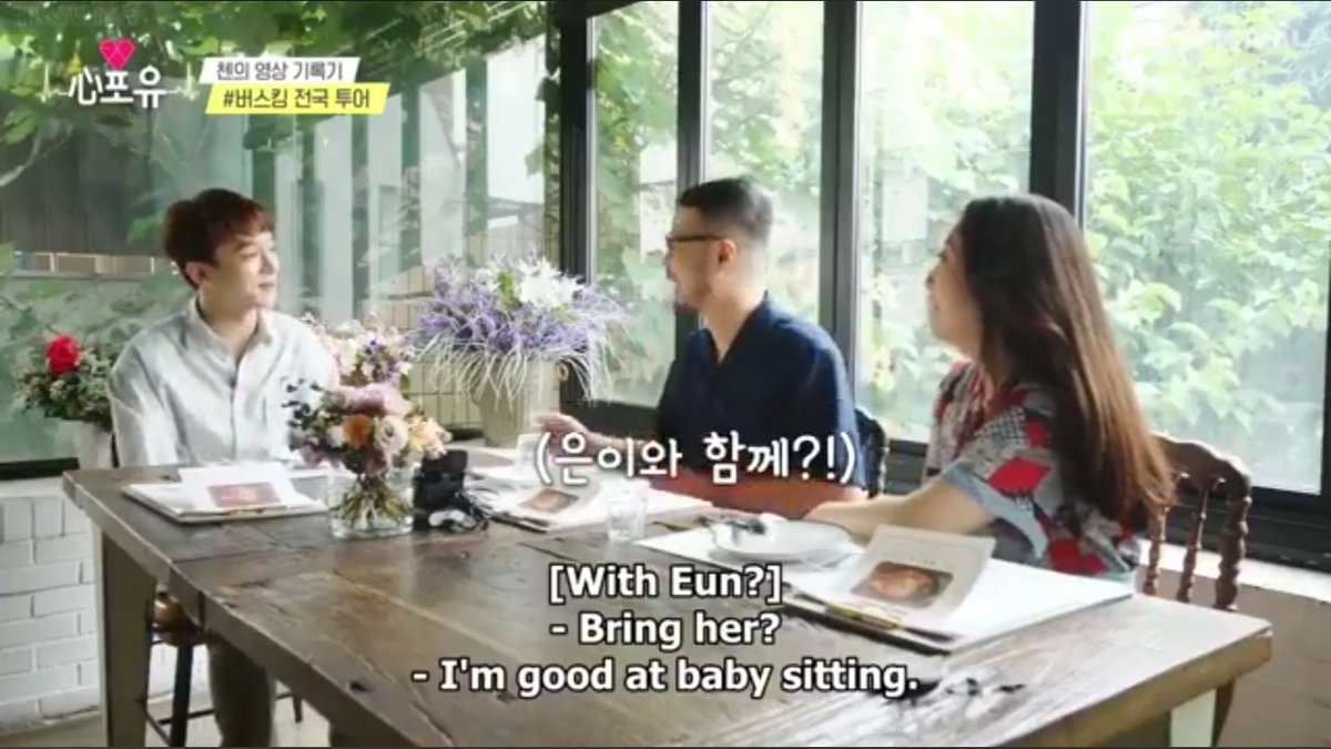 Chen: I'm good at baby sitting            I'm really good with babies  your wife is so lucky❣ 👉👈  #Heart4u #Chen #Jongdae https://t.co/hsRefSzo7f