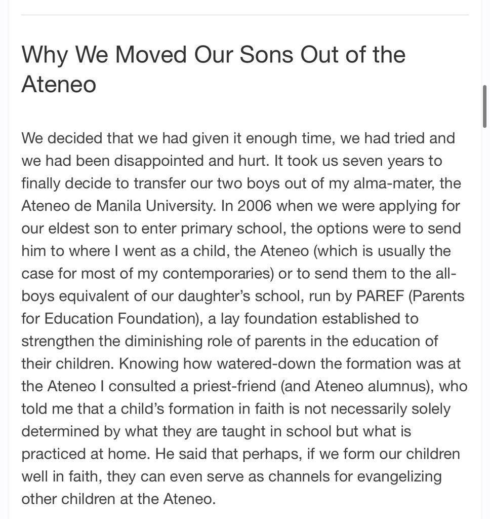 I'm glad I'm one of the reasons why he moved his sons out of Ateneo. 🤡 https://t.co/xhKgztfk43