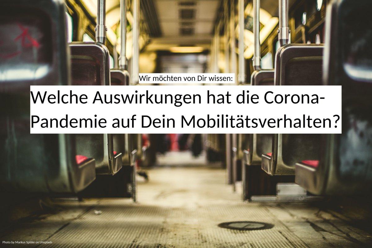 In der @BMBF-Studie #MOBICOR untersuchen wir mit unseren Partnern @WZB_Berlin, @infas_Institut & @MOTIONTAG nachhaltige Veränderungen im alltäglichen Mobilitätsverhalten aufgrund von #Corona. Dafür interessieren uns deine Erfahrungen. Lust mitzumachen? https://t.co/ddWzK6dKRR https://t.co/JHZXUwb5OW