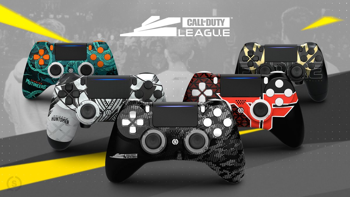 Celebrating the launch of SCUF x @CODLeague Collection with a giveaway!   To enter:  • RT & Like This Tweet • Follow @ScufGaming & @CODLeague • Reply with your favorite CDL design  More ways to enter:  https:// scuf.co/cdl-giveaway     #CDL2020  <br>http://pic.twitter.com/a54YojnXeH